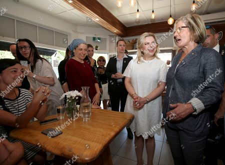 Lara Netanyahu, Lucy Turnbull Lara Netanyahu, second right, the wife of Israeli Prime Minister Benjamin Netanyahu, and Lucy Turnbull, right, the wife of Australia's Prime Minister Malcolm Turnbull, meet patrons at a cafe in Sydney, . Prime Ministers Netanyahu and Turnbull signed agreements on technology and air services as well as discussed expanding co-operation in areas, including cyber-security, innovation and science