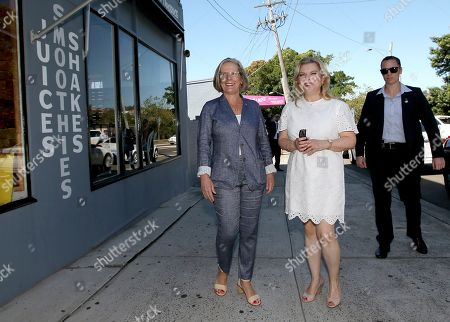Stock Picture of Lara Netanyahu, Lucy Turnbull Lara Netanyahu, center, the wife of Israeli Prime Minister Benjamin Netanyahu, and Lucy Turnbull, left, the wife of Australia's Prime Minister Malcolm Turnbull, arrive at a cafe in Sydney, . Prime Ministers Netanyahu and Turnbull signed agreements on technology and air services as well as discussed expanding co-operation in areas, including cyber-security, innovation and science