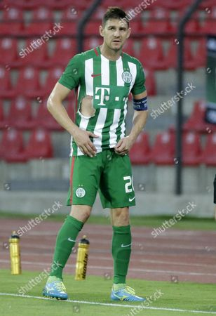 Zoltan Gera of Ferencvaros Reacts During the Uefa Champions League Second Qualifying Round First Leg Soccer Match Between Fk Partizani and Ferencvaros in Elbasan Albania 13 July 2016 Albania Elbasan