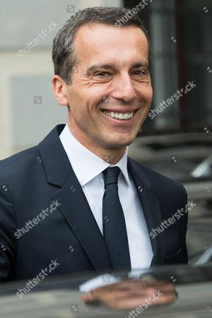 Austrian Chancellor Christian Kern Leaves the Presidential Office After His Inauguration in Vienna Austria 17 May 2016 Christian Kern Has Replaced Former Austrian Chancellor Werner Faymann Austria Vienna