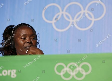 Former Kenyan Marathon World Record-holder Tegla Loroupe Chef De Mission of the Olympic Refugee Team Attends a Press Conference Prior to the Rio 2016 Olympic Games in Rio De Janeiro Brazil 30 July 2016 Ten Refugee Athletes Including Two Congolese Judokas Will Form a Team Set to Compete in the Rio 2016 Olympics Which Will Take Part From 05 August Until 21 August 2016 in Rio De Janeiro Brazil Rio De Janeiro