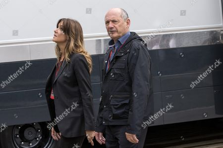 Stock Image of Mclaren Chairman and Ceo Ron Dennis (r) Walks in the Paddock with His Girlfriend Carol Weatherall (l) Ahead of the 2016 Formula One Grand Prix of Great Britain at Silverstone Race Track in Silverstone Britain 10 July 2016 United Kingdom Silverstone