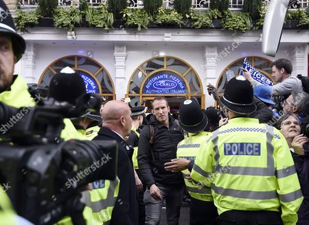 Leicester Player Mark Schwarzer (c) Leaves an Italian Restaurant where the Leicester Team is Celebrating the Premier League Title in Central Leicester in Leicester Britain 03 May 2016 Leicester was Crowned English Premier League Champions For the First Time in the Club's History Clinching the Title After a Tie Between Chelsea and Tottenham United Kingdom Leicester