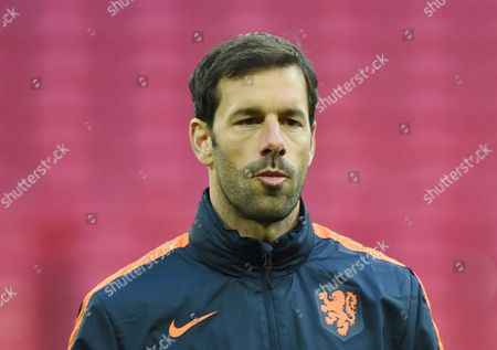 The Netherlands Assistant Manager Ruud Van Nistelrooy During a Training Session at Wembley Stadium in London Britain 28 March 2016 England is Playing the Netherlands at Wembley Tomorrow on 29 March 2016 United Kingdom London