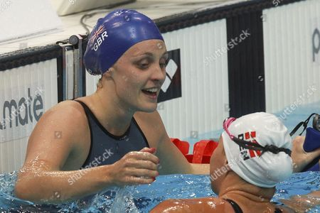 Francesca Halsall From Great Britain Reacts After Winning the Women's 50 M Backstroke Final at the Len European Aquatics Championships 2016 in London Britain 21 May 2016 United Kingdom London