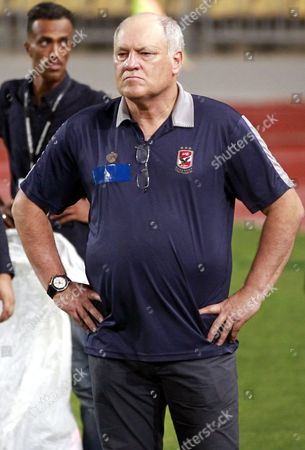 Stock Picture of Al-ahly Coach Martin Jol Reacts After the Final of the 2016 Egypt Cup Between Al-ahly and Zamalek in Alexandria Egypt 08 August 2016 Egypt Alexandria