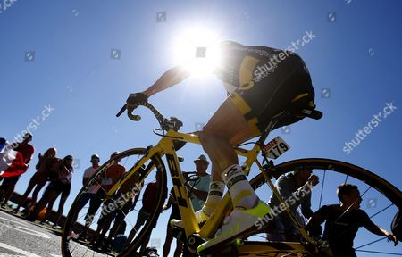 Direct Energie Team Rider Thomas Voeckler of France Climbs Col Grand Colombier During the 15th Stage of the 103rd Edition of the Tour De France Cycling Race Over 160km Between Bourg-en-bresse and Culoz France 17 July 2016 France Culoz