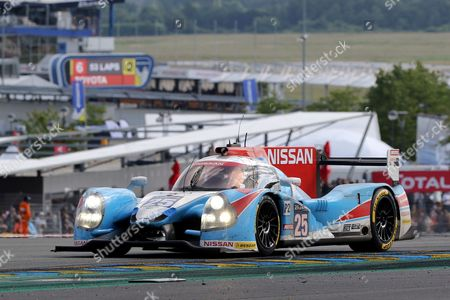 Algarve Pro Racing in a Ligier Js P2-nissan with Michael Munemann of Great Britain Christopher Hoy of Great Britain and Andrea Pizzitola of France During the 24 Hours of Le Mans Car Race in Le Mans France 18 June 2016 France Le Mans