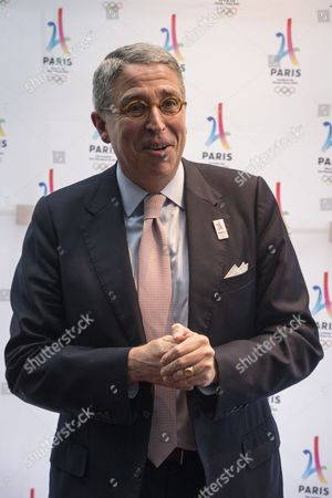 Vivendi Directory President Arnaud De Puyfontaine Poses For Photographs Before the Meeting of French Companies and Official Partners of the Paris Bid For the 2024 Summer Olympics at the Restaurant 'Les Ombres' in Paris France 30 May 2016 France Paris
