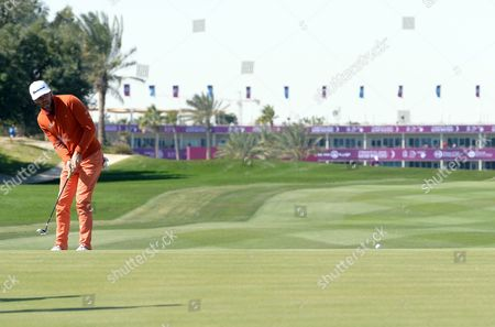 Johan Carlsson of Sweden in Action During the Third Round of the Qatar Masters Golf Tournament at the Doha Golf Club in Doha Qatar 29 January 2016 Qatar Doha