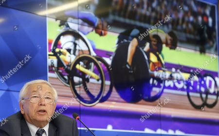 Vladimir Lukin President of the Russian Paralympic Committee Attends a News Conference in Moscow Russia 08 August 2016 the Russian Team is Banned From the Rio 2016 Paralympic Games Over State-backed Doping the Head of the International Paralympic Committee (ipc) Sir Philip Craven Announced 07 August Russian Federation Moscow