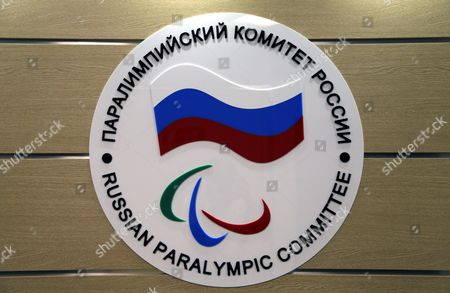 The Logo of the Russian Paralympic Committee is Attached to a Wall at the Office of Russian Paralympic Committee in Moscow Russia 08 August 2016 the Russian Paralympic Team Will not Be Allowed to Compete in the Rio 2016 Paralympic Games the Head of the International Paralympic Committee (ipc) Sir Philip Craven Announced 07 August with 21 Days Allowed For Russia to Appeal the Ban Russian Federation Moscow