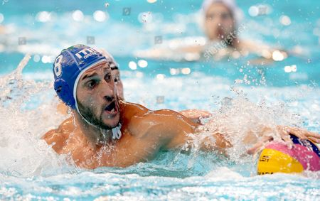 Valentino Gallo of Italy in Action During the Men's Group C Preliminary Round Match Germany Vs Italy at the Water Polo European Championships in Belgrade Serbia 11 January 2016 Serbia and Montenegro Belgrade