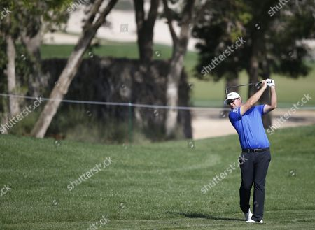 Peter Hanson of Sweden Plays a Shot During the First Round of the Omega Dubai Desert Classic 2016 Golf Tournament at Emirates Golf Club in Dubai United Arab Emirates 04 February 2016 United Arab Emirates Dubai
