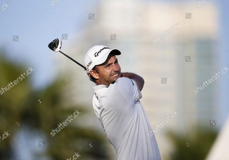 Edoardo Molinari of Italy Tees Off During the First Round of the Omega Dubai Desert Classic 2016 Golf Tournament at Emirates Golf Club in Dubai United Arab Emirates 04 February 2016 United Arab Emirates Dubai