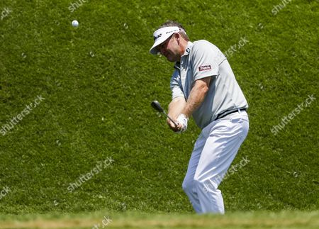Jason Bohn of the Us Chips Onto the Second Green During the First Round of the Players Championship on the Stadium Course at Tpc Sawgrass in Ponte Vedra Beach Florida Usa 12 May 2016 United States Ponte Vedra Beach