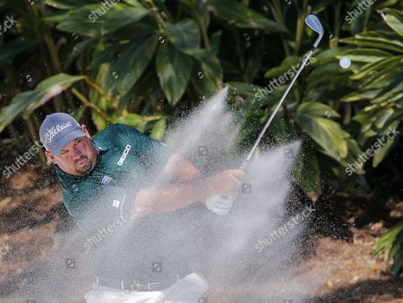 Brendon De Jonge of Zimbabwe Hits out of a Sand Trap at the Fourteenth Green During the First Round of the Players Championship Golf Tournament at the Tpc Sawgrass Stadium Course in Ponte Vedra Beach Florida Usa 12 May 2016 the Tournament is Played From 12 May Through 15 May United States Ponte Vedra Beach