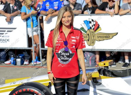 Us Youtube Personality Ijustine Arrives on the Red Carpet Before the 100th Running of the Indianapolis 500 Auto Race at the Indianapolis Motor Speedway in Indianapolis Indiana Usa 29 May 2016 United States Indianapolis