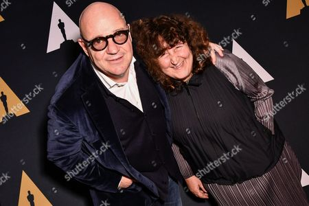 Gianfranco Rosi and Donatella Palermo