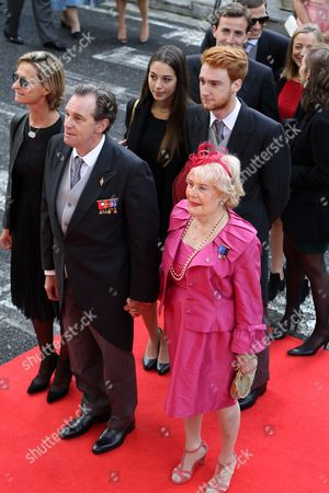 French Deputy Renaud Muselier (2-l) and Guests Arrive For the Wedding Ceremony of Albanian Prince Leka Zogu Ii and Elia Zaharia Held in Tirana Albania 08 October 2016 Albania Tirana