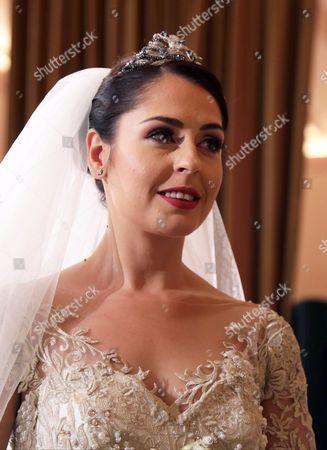 Elia Zaharia Pictured During Her Wedding Ceremony with Albanian Prince Leka Zogu Ii (not Pictured) Held in Tirana Albania 08 October 2016 Albania Tirana