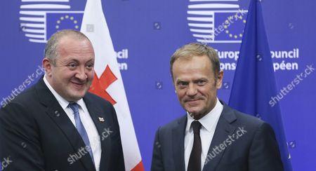 Editorial photo of Belgium Eu Council Georgia President Visit - Jun 2016