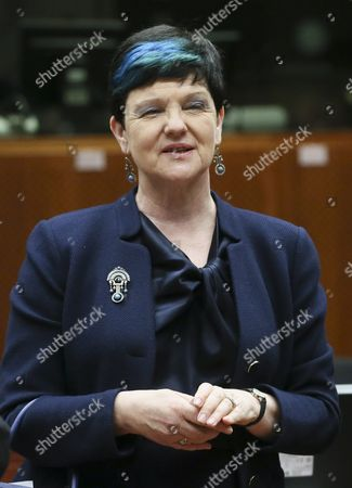 Stock Picture of The Baroness Neville-rolfe British Parliamentary Under-secretary of State For the Department For Business Innovation and Skills and Minister For Intellectual Property Waits For the Start Od a Council Meeting of European Ministers in Charge of Culture in Brussels Belgium 31 May 2015 the Meeting According to a Media Release is Focussed on the Preventiaon of Youth Radicalisation As Well As Education to Help Young People to Become Media Literate Belgium Brussels