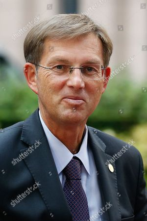 Slovenian Prime Minister Miroslav Cerar Arrives at Eu Summit in Brussels Belgium 15 October 2015 Eu Heads of State Or Government Gather to Focus on Migration the Completion of the Economic and Monetary Union and the State of Play on the Uk Referendum Are Also Topics to Be Discussed Belgium Brussels