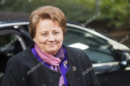 Latvian Prime Minister Laimdota Straujuma Arrives For the Start of an Eu-turkey Summit in Brussels Belgium 29 November 2015 the European Union Hopes to Secure Ankara's Concrete Help in Stemming a Surge in Migration at a Joint Summit in Brussels with the Bloc Offering Financial Aid and Closer Ties in Return Europe is Facing Its Largest People Movements Since World War Ii with Almost 900 000 Migrants and Asylum Seekers Arriving This Year Many Including Large Numbers From War-torn Syria Transit Through Turkey and Board Boats Headed For Greece Belgium Brussels