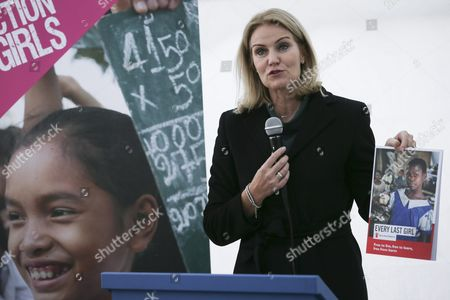 Ceo of Save the Children International and Former Danish Prime Minister Helle Thorning-schmidt Opens the European Week of Action For Girls at European Parliament in Brussels 11 October 2016 European Week of Action For Girls is an Annual Event Which Aims to Ensure That Girls Empowerment is Promoted and Their Rights Are Protected Belgium Brussels