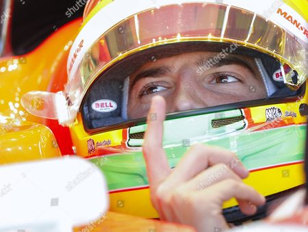Spanish Formula One Driver Roberto Merhi of Manor Marussia F1 Team During the First Practice Session at the Spa-francorchamps Race Track Near Francorchamps Belgium 21 August 2015 the 2015 Belgium Formula One Grand Prix Will Take Place on 23 August Belgium Francorchamps