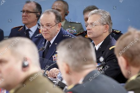 Supreme Allied Commander Europe Or Saceur Us General Philip Breedlove (l) and Supreme Allied Commander Transformation Or Sact French General Denis Mercier at the Start of the 174th Military Committee in Chiefs of Defence Session at the Nato Alliance Headquarters in Brussels Belgium 21 January 2016 the Committee Will Talk on Natos Future Strategy As Well As the Consensus-based Military Advice and Guidance That Will Be Given to the North Atlantic Council and Defence Ministers in the Run Up to the Nato Summit in Warsaw in July 2016 Belgium Brussels