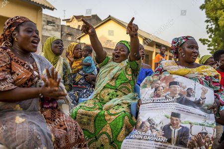 A Photograph Made Available 03 March 2016 Shows Supporters of Presidential Candidate Lionel Zinsou in Cotonou Benin 02 March 2016 Zinsou Franco-beninian is the Candidate of Current President Boni Yayi who Can't Run For a Third Term in Office Presidential Elections in Benin Take Place on 06 March 2016 Benin Cotonou