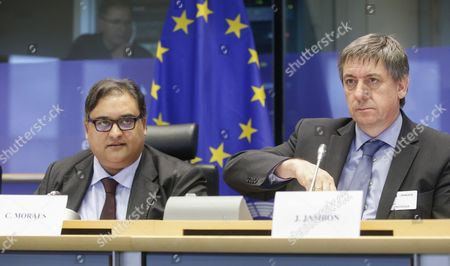 Belgian Interior Minister Jan Jambon (r) and Member of Eu Parliament Claude Moraes Attend a Hearing by European Parliament Committee on Civil Liberties Justice and Home Affairs in Brussels Belgium 25 April 2016 the Hearing Focused on the Terrorist Attacks of Brussels on 22 March and the Related Security Measures Taken by the Government After the Events Belgium Brussels