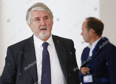 Italian Minister of Labour and Social Policy Giuliano Poletti Arrives to Speak to Media During the Justice and Home Affairs Council Meeting in Luxembourg 13 October 2016 the Council Will Discuss the Implementation of Migration Measures with the Aims to Identify the Main Gaps and Shortcomings and to Make the Appropriate Recommendations to Speed Up the Processes Ministers Will Also Asses the Implementation of the European Border and Coast Guard Luxembourg Luxembourg