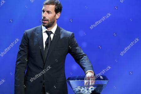 Former Dutch Soccer Player Ruud Van Nistelrooy Takes Part in the Uefa Champions League 2016/17 Draw at Grimaldi Forum in Monte Carlo in Monaco 25 August 2016 Monaco Monaco