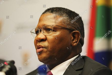South African Sports Minister Fikile Mbalula Speaks During a Press Conference at the Parliament in Cape Town South Africa 17 March 2016 Mbalula Came on Record Saying South Africa Did not Run a Corrupt 2010 Soccer World Cup Campaign and Called on Fifa to Retract Its Bribery Accusations Around a 10 Million Us Dollar (8 8 Million Euro) Payment South Africa Cape Town