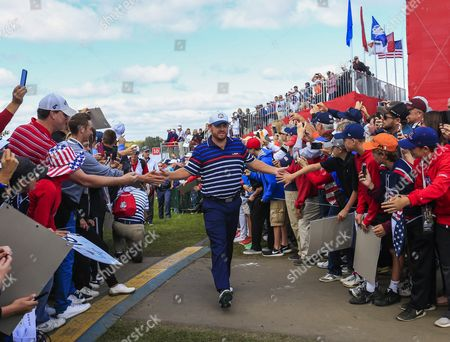 Team Usa's J B Holmes Walks Through the Crowd on This Way to the Eleventh Tee During Practice For the Ryder Cup 2016 at the Hazeltine National Golf Club in Chaska Minnesota Usa 29 September 2016 the Ryder Cup 2016 Runs From 29 September to 02 October United States Chaska