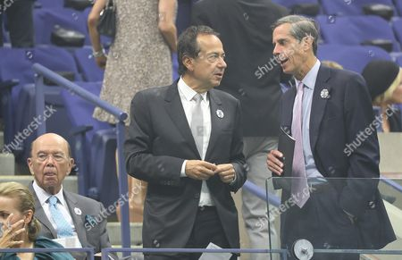Us Investors Wilbur Ross (l) and John Paulson (c) Before the Start of the Opening Night Ceremony on the First Day of the Us Open Tennis Championship at the Usta National Tennis Center in Flushing Meadows New York Usa 29 August 2016 the Us Open Runs Through September 11 United States Flushing Meadows