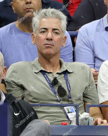 Stock Photo of Us Hedge Fund Manager Bill Ackman Watches As Jerzy Janowicz of Poland Plays Novak Djokovic of Serbia on the First Day of the Us Open Tennis Championship at the Usta National Tennis Center in Flushing Meadows New York Usa 29 August 2016 the Us Open Runs Through September 11 United States Flushing Meadows