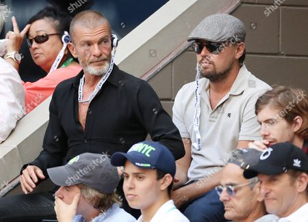 Us Actor Leonardo Dicaprio (r) and Israeli-american Investor Vivi Nevo (l) Watch As Stan Wawrinka of Switzerland Plays Novak Djokovic of Serbia During the Men's Final on the Final Day of the Us Open Tennis Championships at the Usta National Tennis Center in Flushing Meadows New York Usa 11 September 2016 the Us Open Runs Through September 11 United States Flushing Meadows