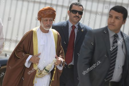 Yusuf Bin Alawi Bin Abdullah (l) Foreign Minister of Oman Arrives to the Arab Foreign Ministers Urgent Meeting Arab League Headquarters in Cairo Egypt 10 March 2016 the Arab Foreign Ministers Will Choose a New Secretary General For the Arab League to Succeed Nabil Elaraby who Will Finish His Term on 30 June 2016 Egypt Cairo