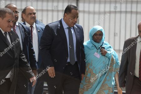 Ibrahim Ghandour (c) Foreign Minister of Sudan Arrives to the Arab Foreign Ministers Urgent Meeting Arab League Headquarters in Cairo Egypt 10 March 2016 the Arab Foreign Ministers Will Choose a New Secretary General For the Arab League to Succeed Nabil Elaraby who Will Finish His Term on 30 June 2016 Egypt Cairo