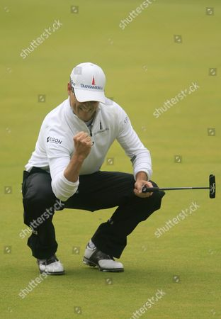 Us Golfer Zack Johnson Reacts After Completing the 18th Hole During the Fourth Round and Final Day at the British Open Golf Championship at St Andrews Scotland Britain 20 July 2015 United Kingdom St Andrews