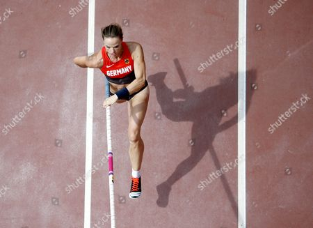 Silke Spiegelburg of Germany Competes in the Women's Pole Vault Qualification During the Beijing 2015 Iaaf World Championships at the National Stadium Also Known As Bird's Nest in Beijing China 24 August 2015 China Beijing