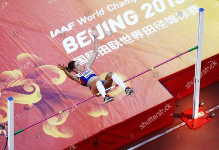 Isobel Pooley of Great Britain Competes in the Women's High Jump Qualification of the Beijing 2015 Iaaf World Championships at the National Stadium Also Known As Bird's Nest in Beijing China 27 August 2015 China Beijing