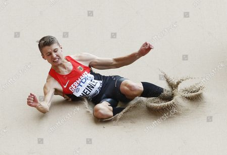 Fabian Heinle of Germany Competes in the Men's Long Jump Qualification During the Beijing 2015 Iaaf World Championships at the National Stadium Also Known As Bird's Nest in Beijing China 24 August 2015 China Beijing
