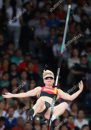 Stock Picture of Germany's Martina Strutz Competes in the Women's Pole Vault Final During the Beijing 2015 Iaaf World Championships at the National Stadium Also Known As Bird's Nest in Beijing China 26 August 2015 China Beijing