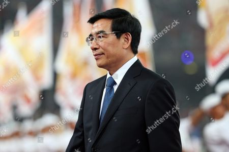 Stock Picture of Beijing Mayor Wang Anshun at the Closing Ceremony of the Beijing 2015 Iaaf World Championships at the National Stadium Also Known As Bird's Nest in Beijing China 30 August 2015 China Beijing