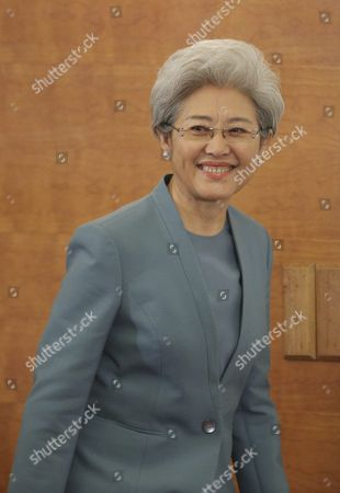 Fu Ying Spokesperson For the Fourth Session of the 12th National People's Congress (npc) Arrives During a Press Conference at the Great Hall of the People (ghop) in Beijing China 04 March 2016 the Fourth Session of the 12th National People's Congress (npc) Will Open on 05 March 2016 China Beijing